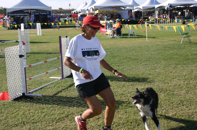 Sue R finishing up a run