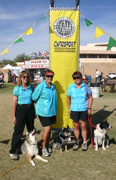 Three's a Charm after their team finals run (Ellen/Tika, Mary/Skeeter, Carlene/Brenn)