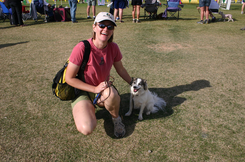 Belinda H and her dog after a lovely run