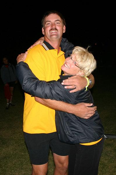Jim B and Susan C celebrating