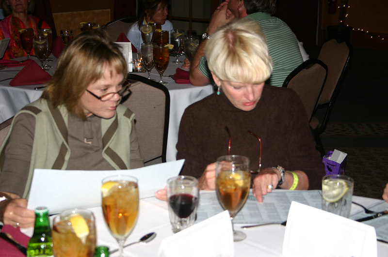 At the awards banquet:  Nancy G and Susan C