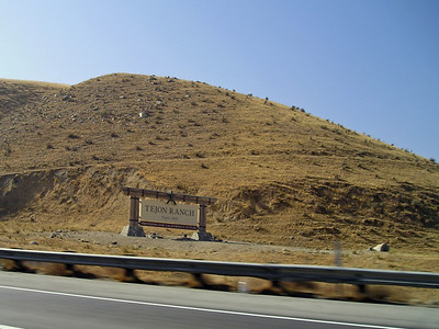 Entering the huge multibillion acre Tejon Ranch as we go up the steep grade of The Grapevine.