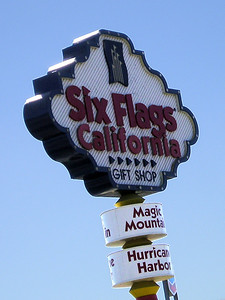 Six Flags Magic Mountain. It's all roller coaster make-you-toss-your-cookies thingies. So who really cares?