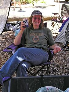 Ellen F. sucks down the diet sodas.