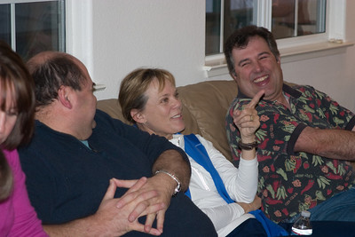 Terry LeClair, Nancy Gyes, and Dave Connet amused.