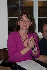 Barbara Snarr runs the meeting.