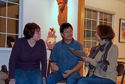 Mardee, Raymond, and Cheri discuss plans.