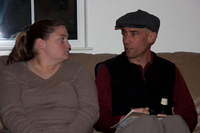 Katrina and Mike compare notes.