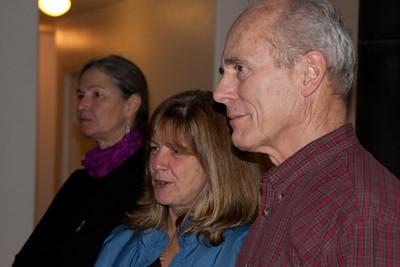 Jenny, Kathy B, and Stan watch.