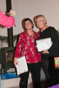 President Kate, Tania with award