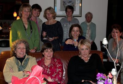 Group-- back row: Linda W, Ellen C, Kathy C, Cheryl B, Lorrayne Behind couch: Sarah J Front: Barb T, Kate, Tania