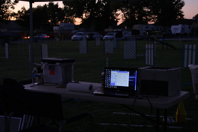 It might be dark, but the faithful agility computer is ready to go.