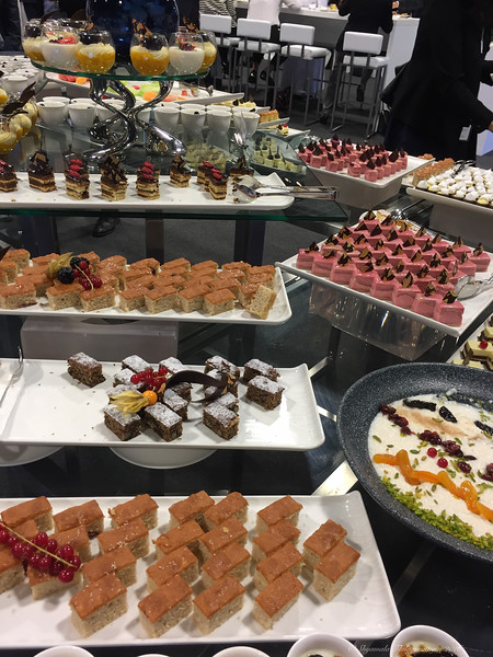 Just part of the dessert spread at lunch