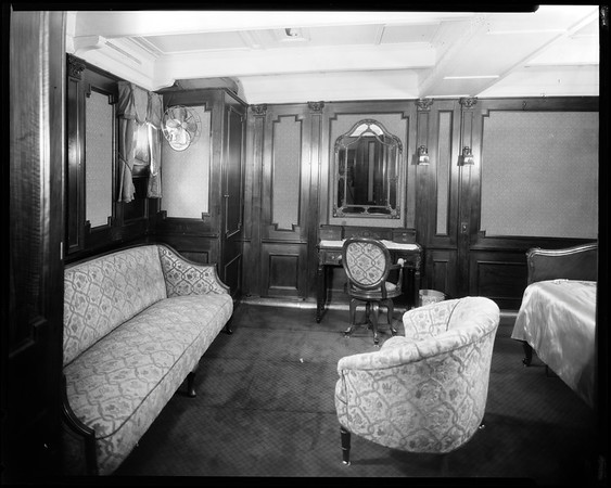 Stateroom, steam yacht Casiana, ca. 1916-1939