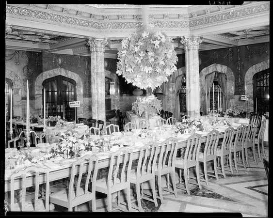 Pompeian Room, Doheny Mansion, Chester Place, Los Angeles, Calif., 1930
