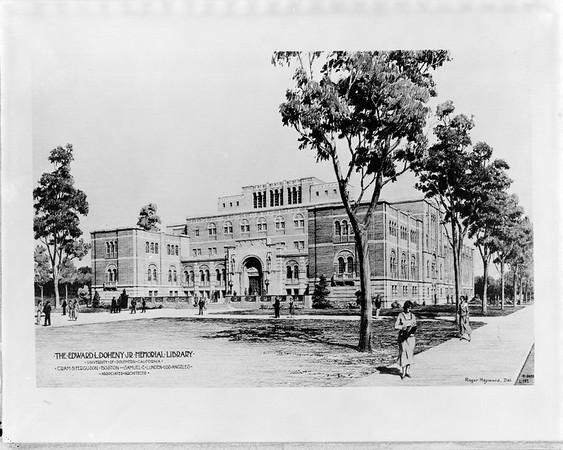 Edward L. Dohney Jr. Memorial Library, rendering, 1931