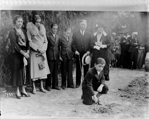 Doheny Memorial Library groundbreaking, Los Angeles, Calif., 1931