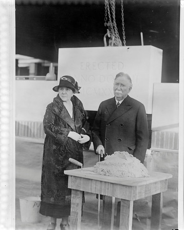 Doheny Memorial Library cornerstone laying, Los Angeles, Calif., 1931