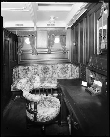 Office, steam yacht Casiana, ca. 1916-1939