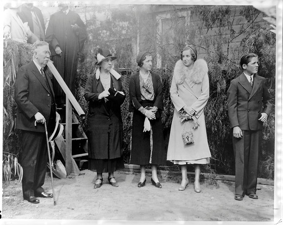 Doheny Memorial Library groundbreaking, Los Angeles, Calif., 1931