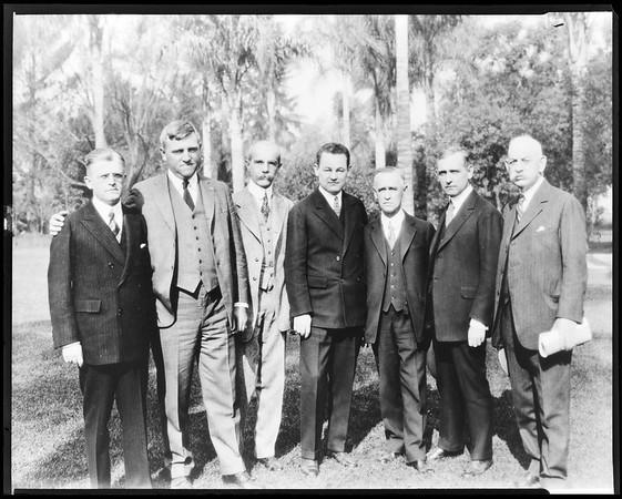 Edward Doheny, Frank Hogan, Charles Wellborn, et al., ca. 1910-1930?