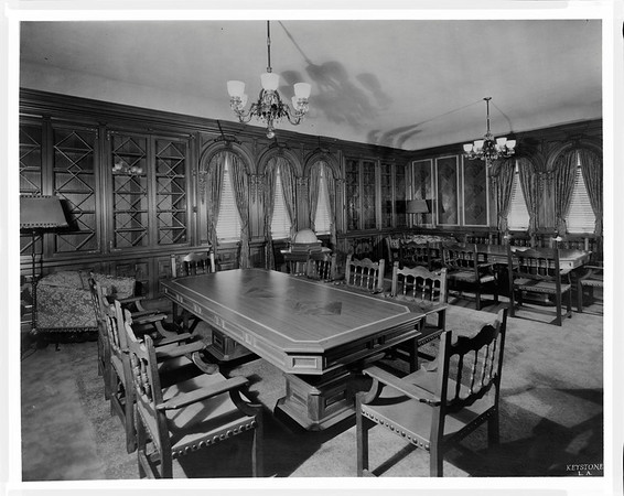 Reading room, Edward L. Dohney Jr. Memorial Library, ca. 1932