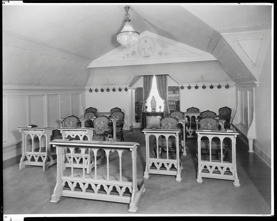 Chapel room, Doheny Mansion, Chester Place, Los Angeles, Calif., 1933