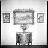 Cabinet and paintings, Doheny Mansion, Chester Place, Los Angeles, Calif., 1933