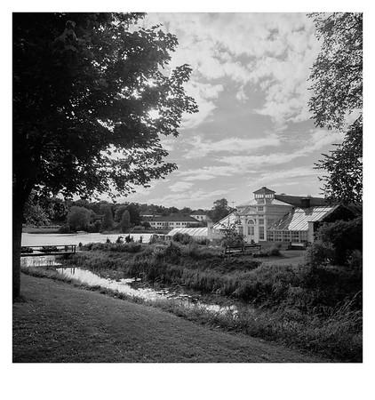 Historisches Gewächshaus bei Schloss Gripsholm in Mariefred, Provinz Södermanlands län (Schweden), 11. August 2016