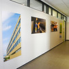Dauerausstellung mit Bildern von Christoph Rau an den Wänden von Verwaltungsgebäude und Werkstatt des  EAD (Eigenbetrieb für kommunale Aufgaben und Dienstleistungen Darmstadt), Foto: Christoph Rau