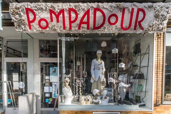 Pompadour, Modeladen im Martinsviertel Darmstadt (Foto: Christoph Rau)