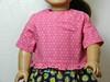 Pink Squares Calico Shirt w Ruffle