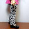 AG BK Pink 3 qtr Sleeve Tee  w Ruffle & TC Gray Balck & Pink Leopard Heart Pants side