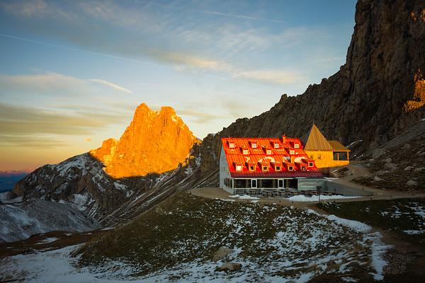 Rifugio Alpe de Tires Sunrise