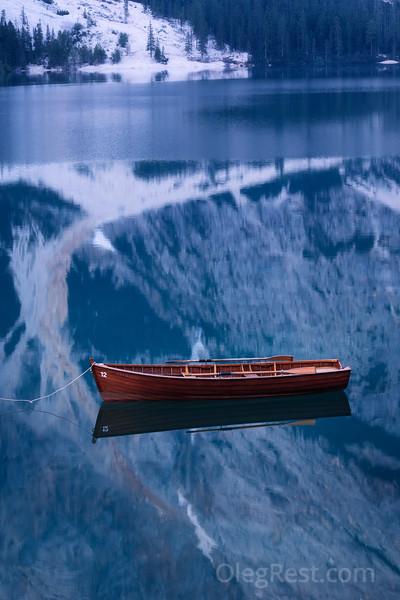 Boat on the Lago di Braies