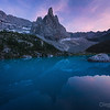 Sunset on the lago Sorapis