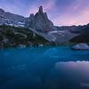 Sunset on the lago Sorapis