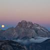Moonset Dolomites