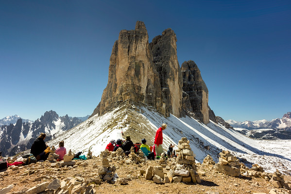 Forcella Lavaredo Hikers