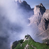 Mist in the Dolomites