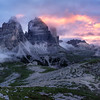 Tre Cime in fire