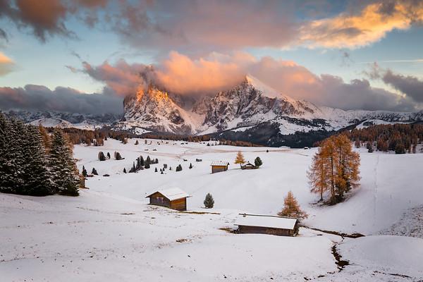 Alpi di Suisi Sunset