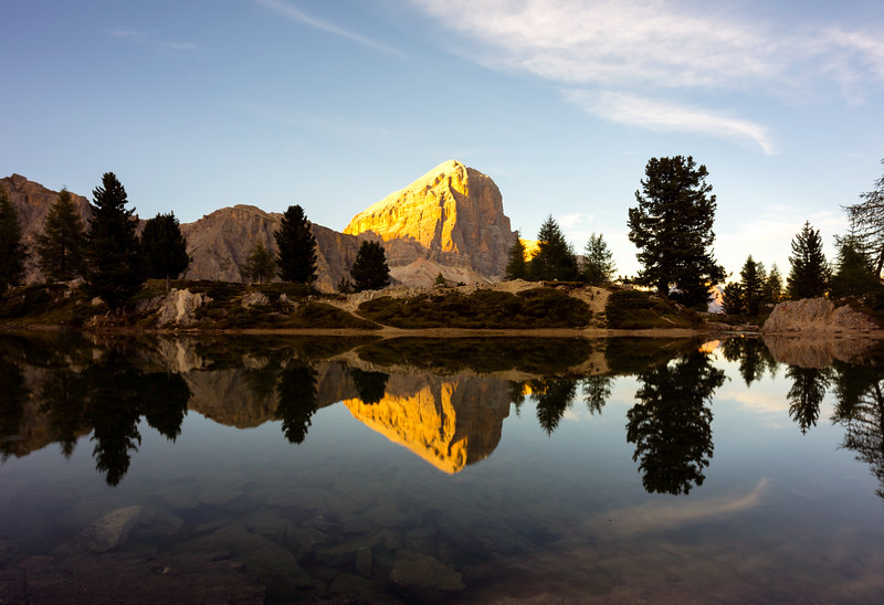 Tofana reflecting in Lago di Limides
