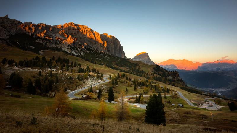 Passo Gardena Sunset