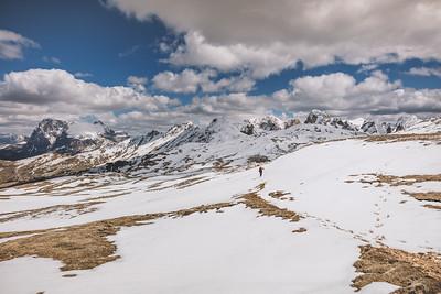 Frühlingswanderung zum Schlern, Dolomiten