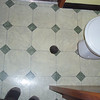 vinyl floor in 2nd toilet, will be tiled soon