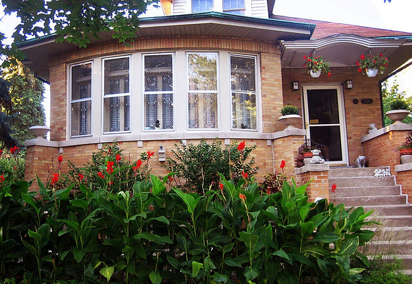 Cannas and House Front View.JPG