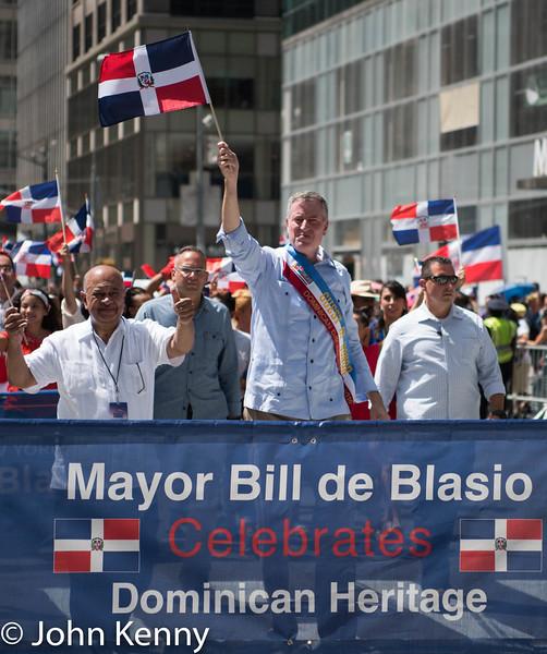 Dominican Day Parade - Mayor de Blasio 8/14/16