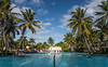 The swimming pool area of the Iberostar Resort in Puerto Plata, Dominican Republic, Caribbean.