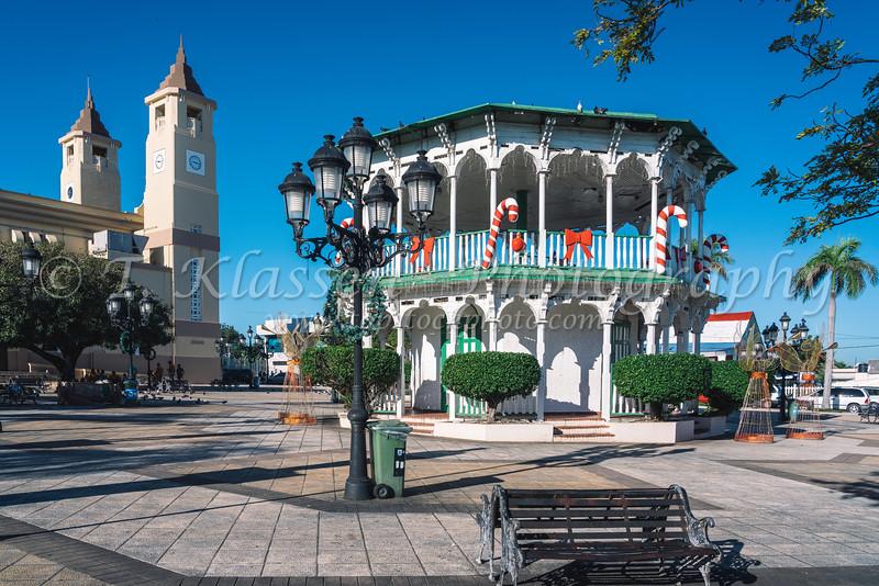 The Plaza Independencia, Central Square in Puerto Plata, Dominican Republic, Caribbean.